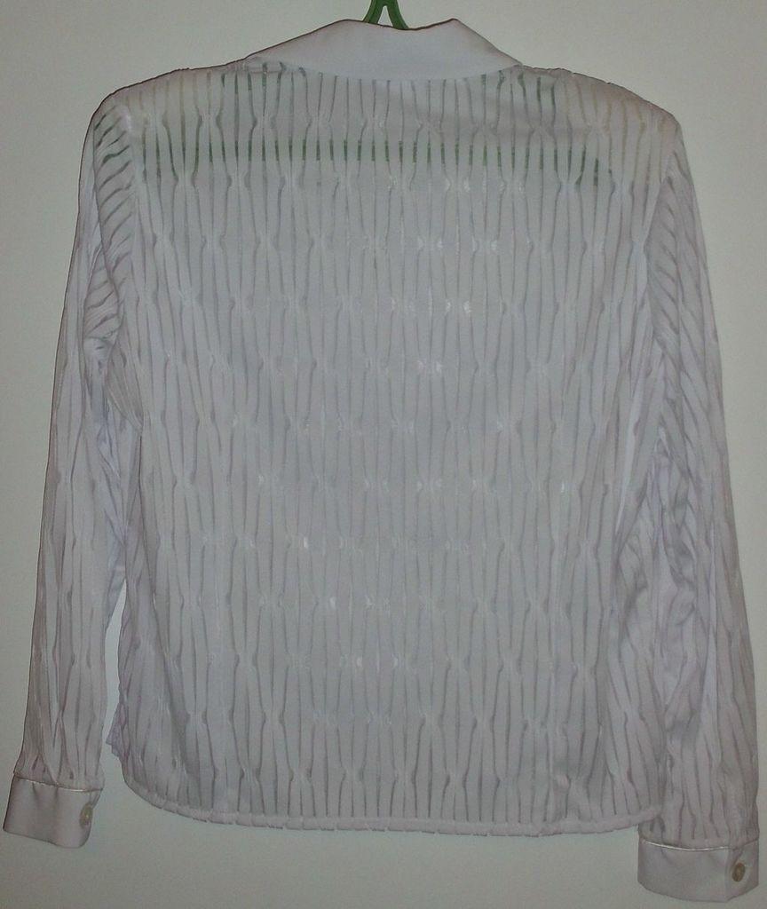 Блузка красивая белая на молнии SANTEX - р.52-54