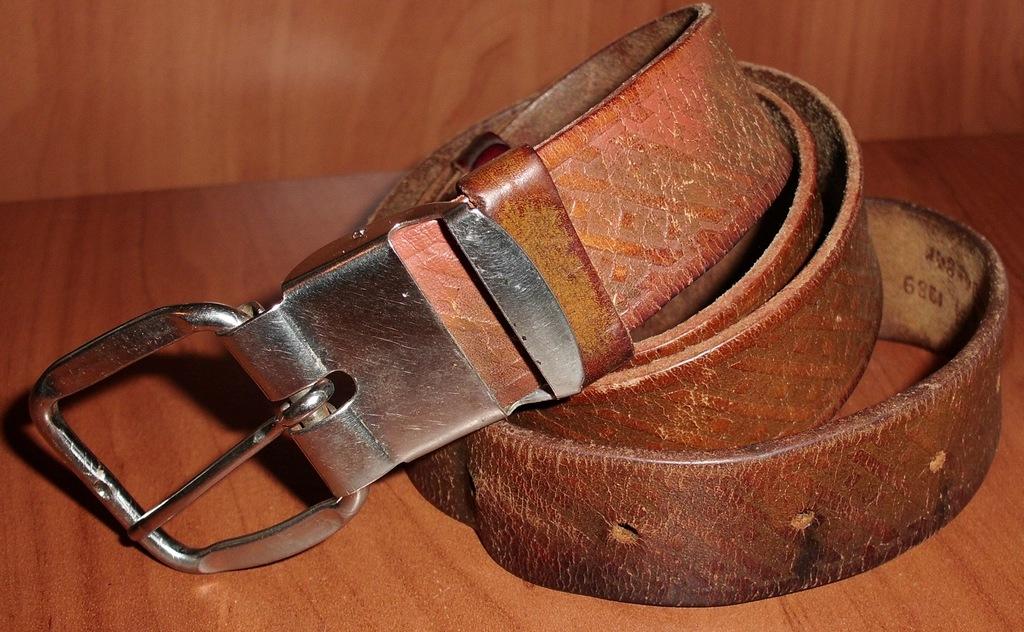 Ремень коричневый натуральная кожа СССР 100 / 3 см