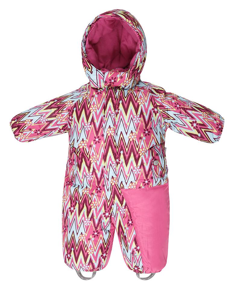Комбинезон TokkaTribe розовый зигзаг с цветами