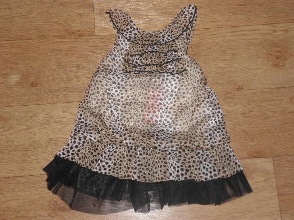 Леопардовое Платье/сарафан новое на 2,5-3 года