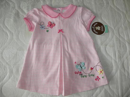 Розовое Платье +трусики Carters на 6-9 мес.