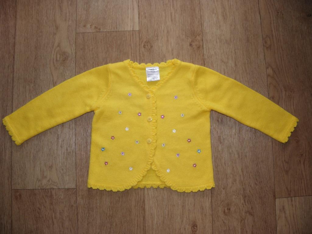 Желтая теплая кофта (США) 18-24 мес.