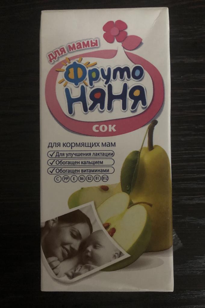 Сок Фруто Няня для мам