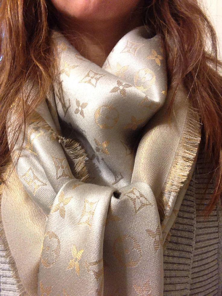 шаль платок louis vuitton