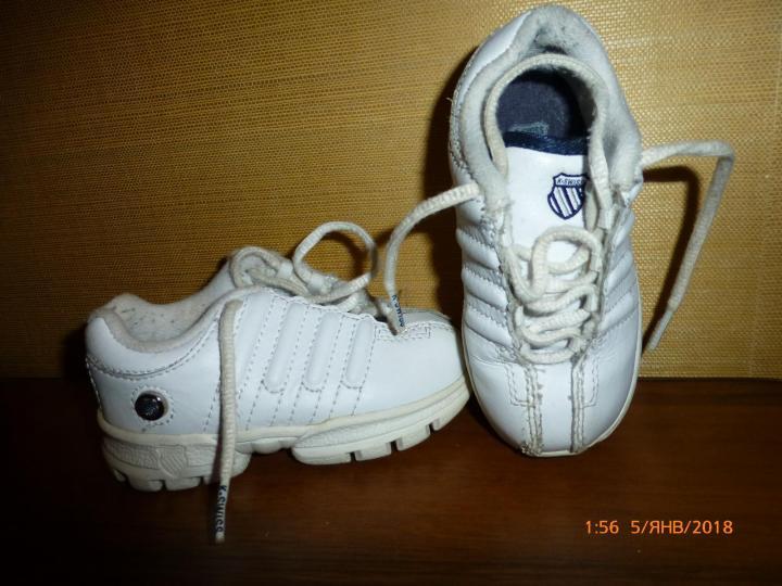 Кроссовки K-Swiss на 2-3года, нат.кожа