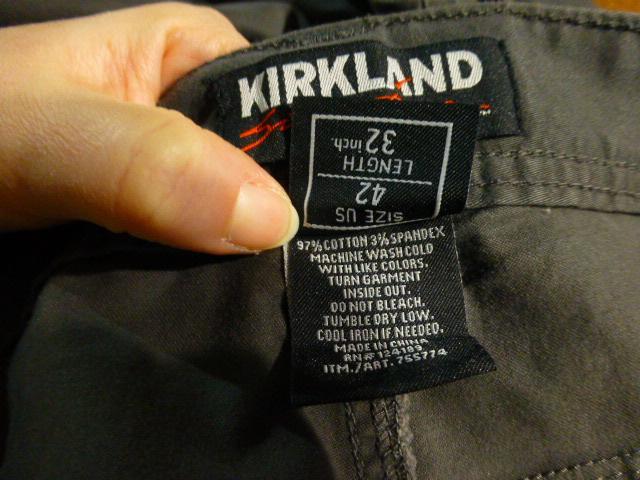 брюки Kirkland, XXL W42'' полуталия 53см, новые