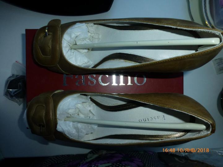 туфли Fascino, нат.кожа, р.39, новые