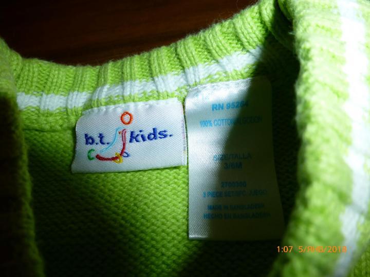 Жилет вязаный B.T. Kids на 3-6месячного