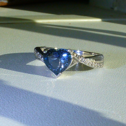 кольцо серебро 925* + топаз + цирконы