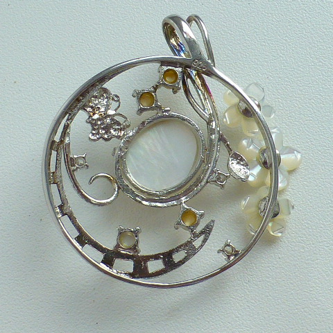 кулон серебро 925* с натур.перламутром