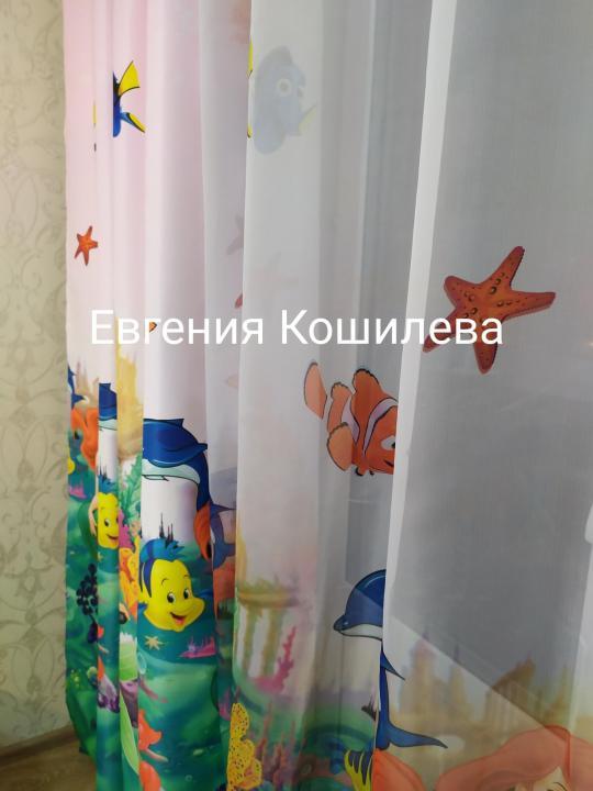 Шторы и тюль в детскую комнату, для девочек