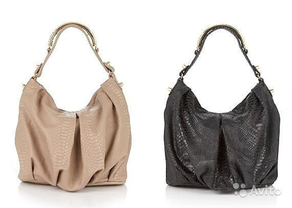 CC Skye Turner Python-Embossed Leather Hobo США