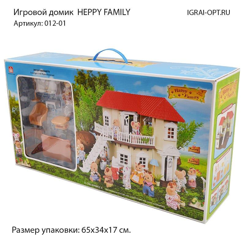 """Загородный домик для зверюшек """"Happy Family"""" 012-0"""