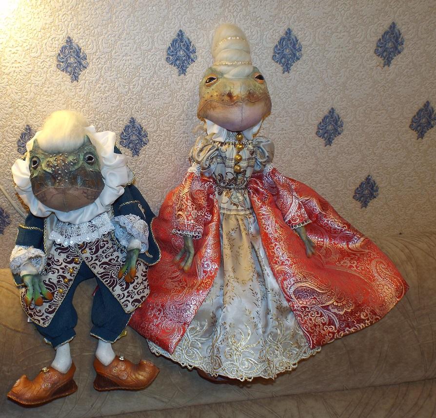 Интерьерная кукла Герцог фон жабб (жабы лягушка)