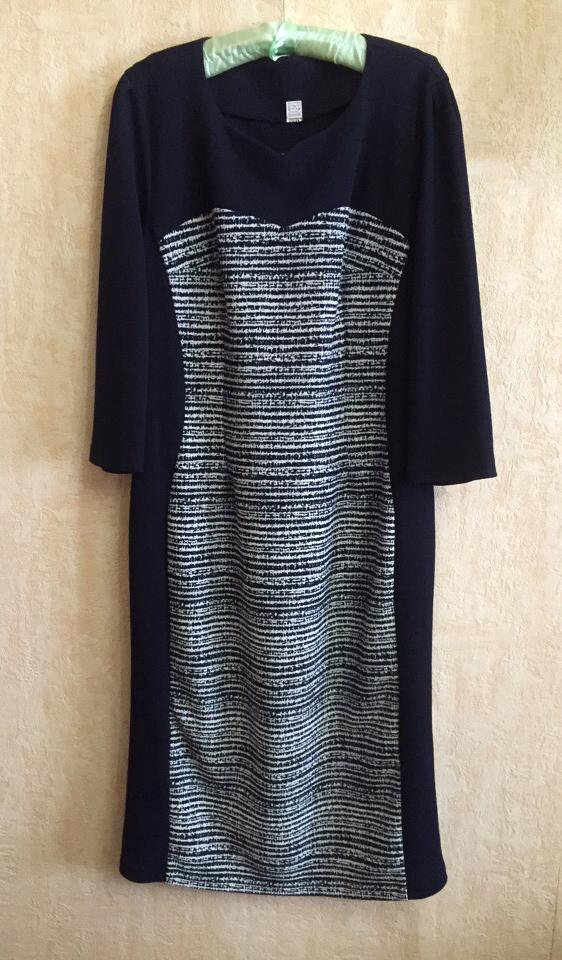 Приталенное новое платье 54-56р-ра