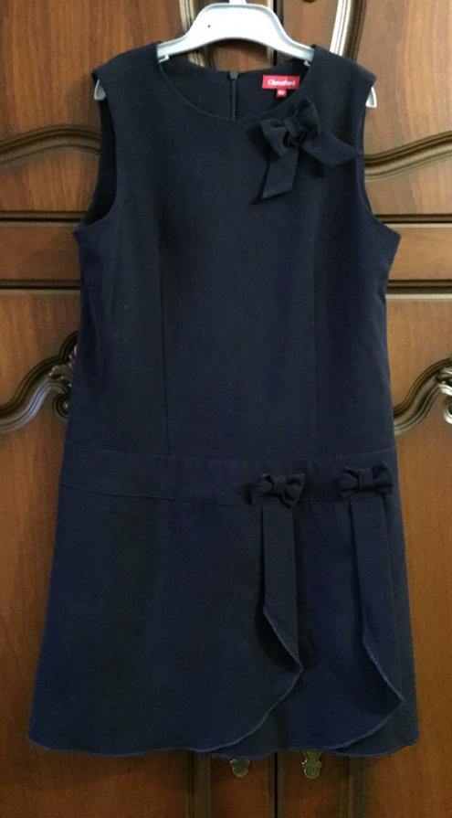 Школьное платье-сарафан рост 152см
