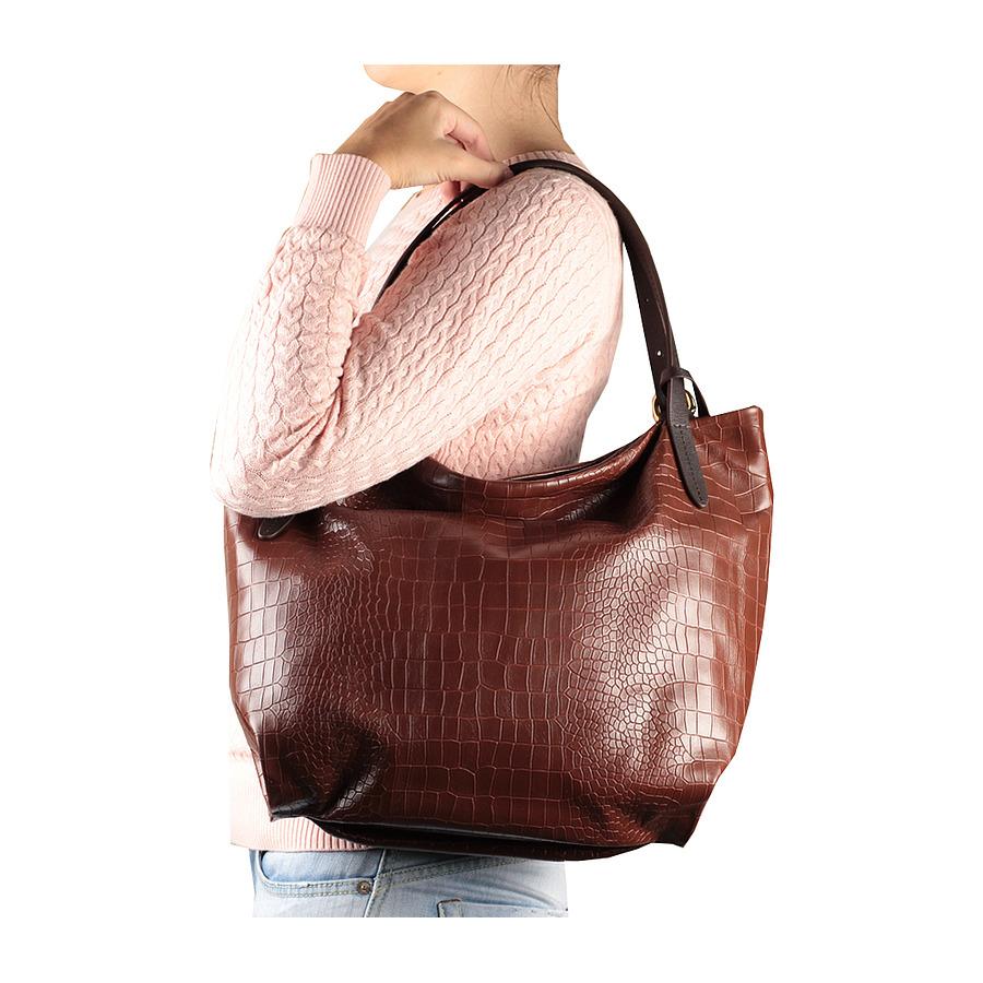 Новая кожаная сумка Италия цвет шоколад
