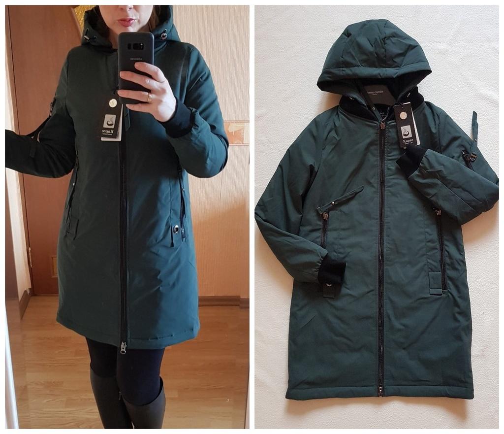 Новая теплая осенняя куртка парка 40 42 и 48