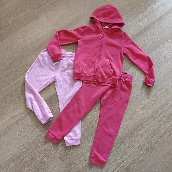 H&M спортивный костюм 3 предмета б/у, 7-8л