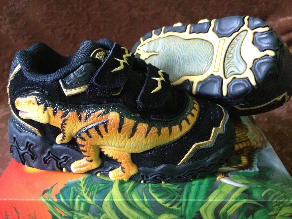 Кроссовки Dinosoles-Стегозавры синие