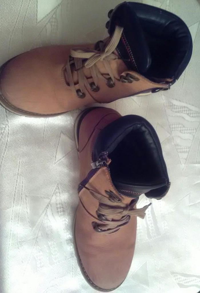 Зимние ботинки, натур. нубук, унисекс р.41 (27 см)