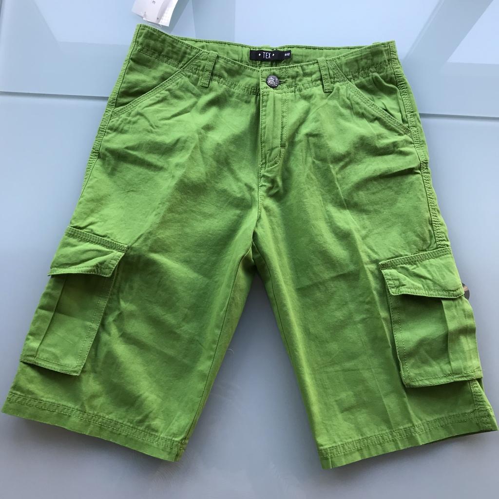 Новые шорты на мальчика Зеленого цвета