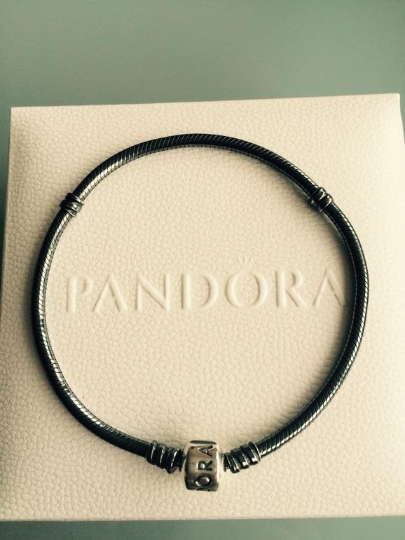 Pandora Оригинал. Браслет черненое серебро (р.21)