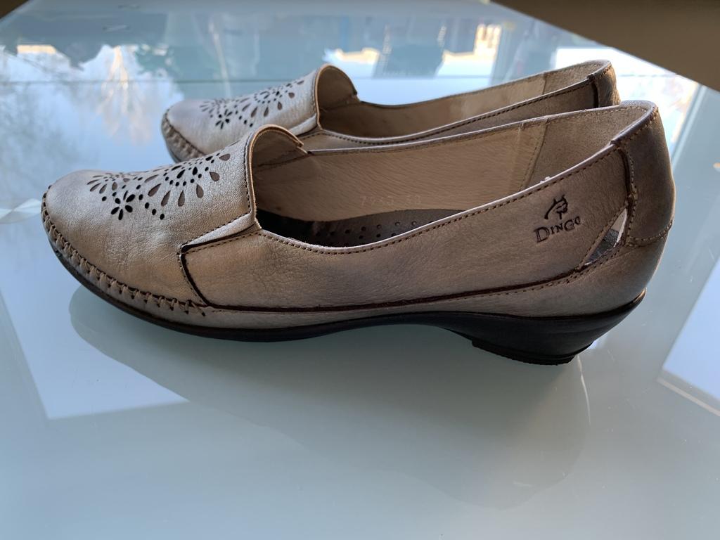 Шикарные Туфельки Кожа , Серебро р.38 Испания