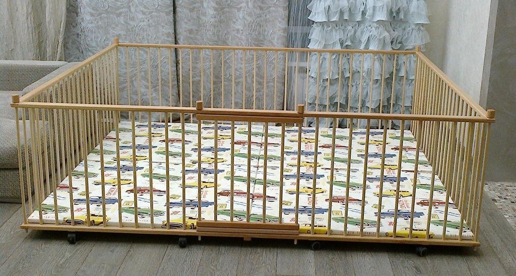 Манеж детский деревянный 2.0х2.5м самый большой
