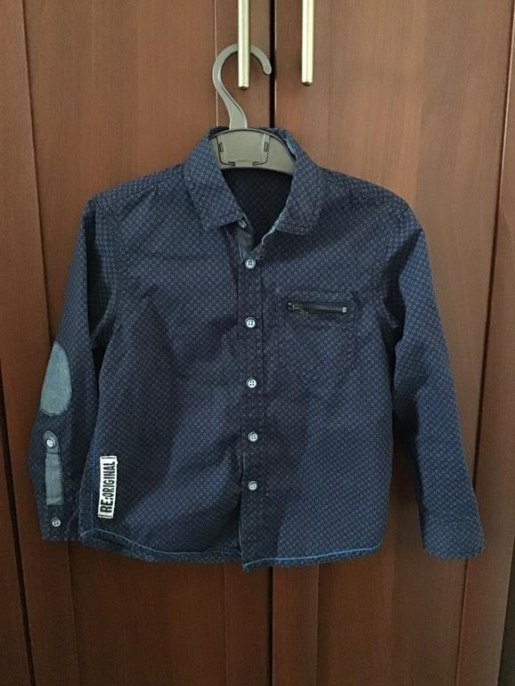 Стильная рубашка для мальчика 104-110