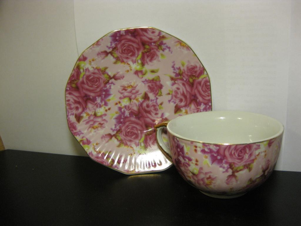 Чайная пара розы