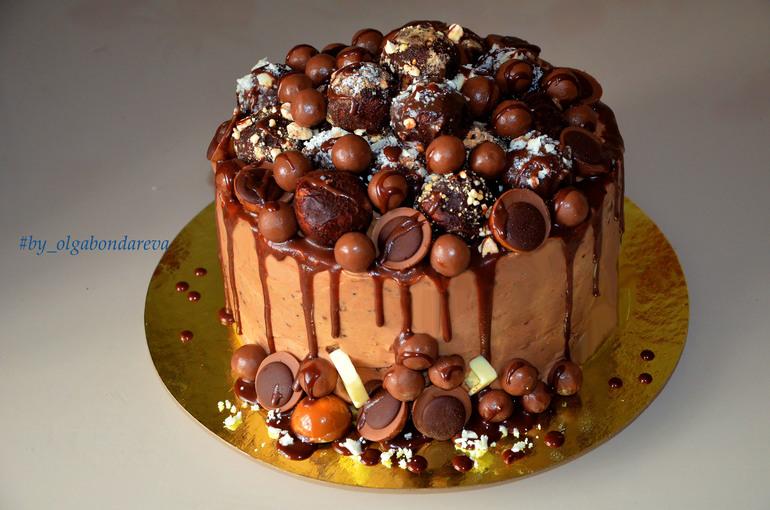 Рецепты торта с шоколадной глазурью сверху фото