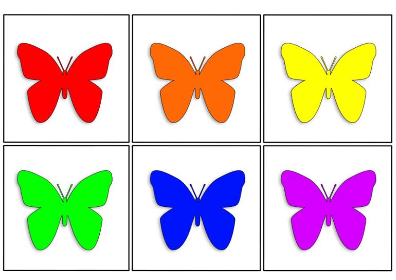 Картинки карточки разных цветов