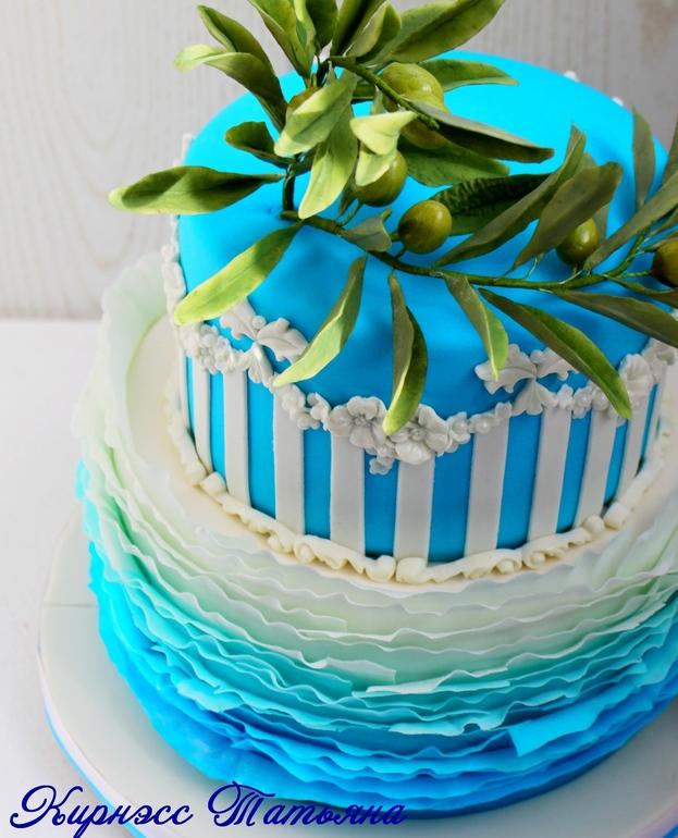 Фото двухярусные торты на юбилей