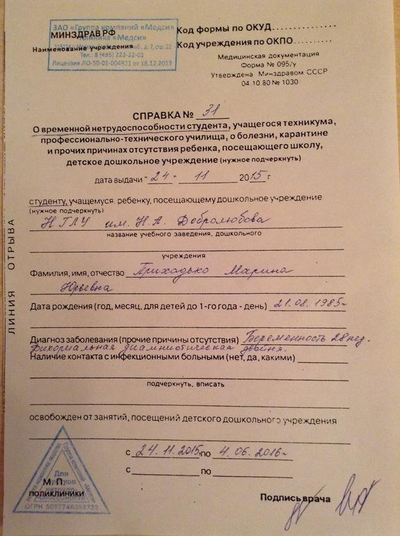 Справка или больничный лист медицинская справка для водительского удостоверения в коломне
