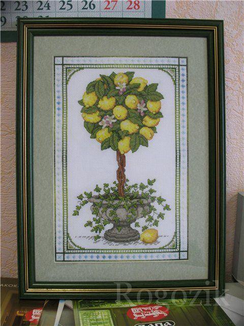 Все схемы лимонного дерева вышивка