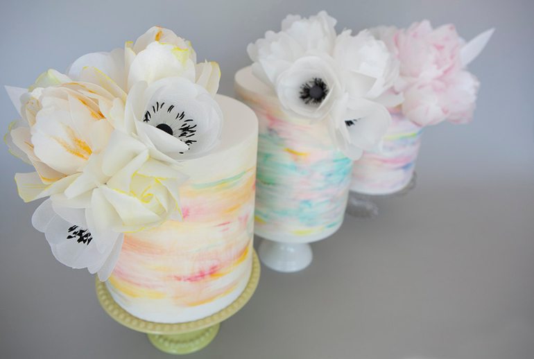 Цветы из вафельной бумаги своими руками 160