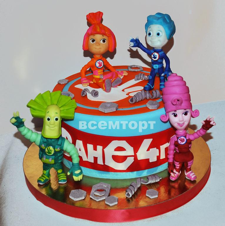 фото торт фиксики