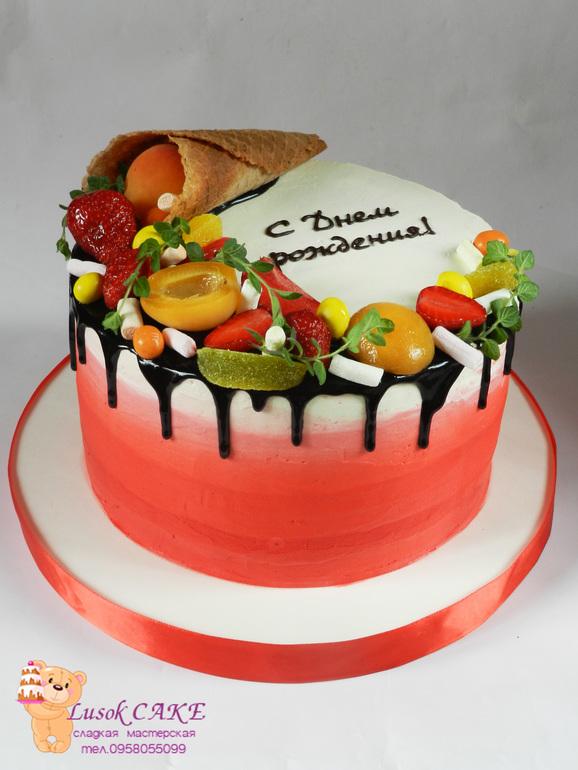торт фото с фруктами