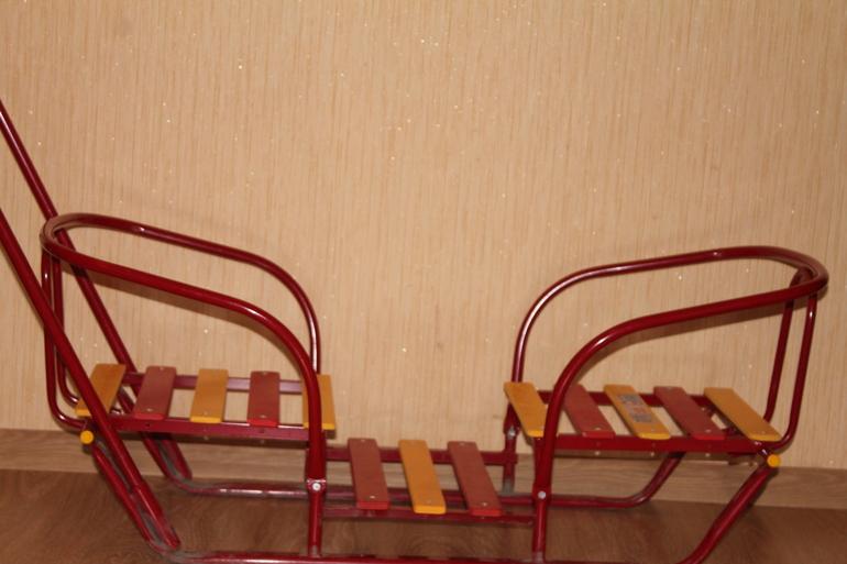 санки для двойни с колесами цена