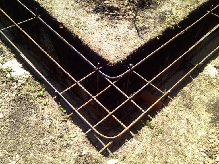 заливка фундамента в грунт без опалубки