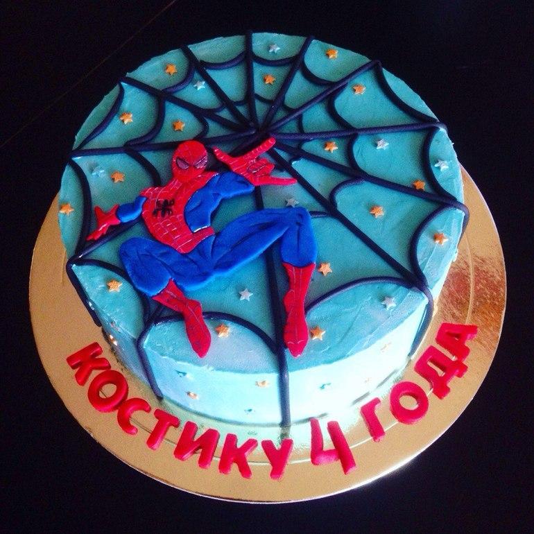 торт человек паук 4 года фото рецепт