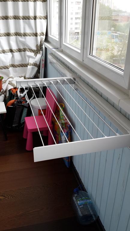 Что сделать с балконом - бельевая сушилка на балкон - запись.
