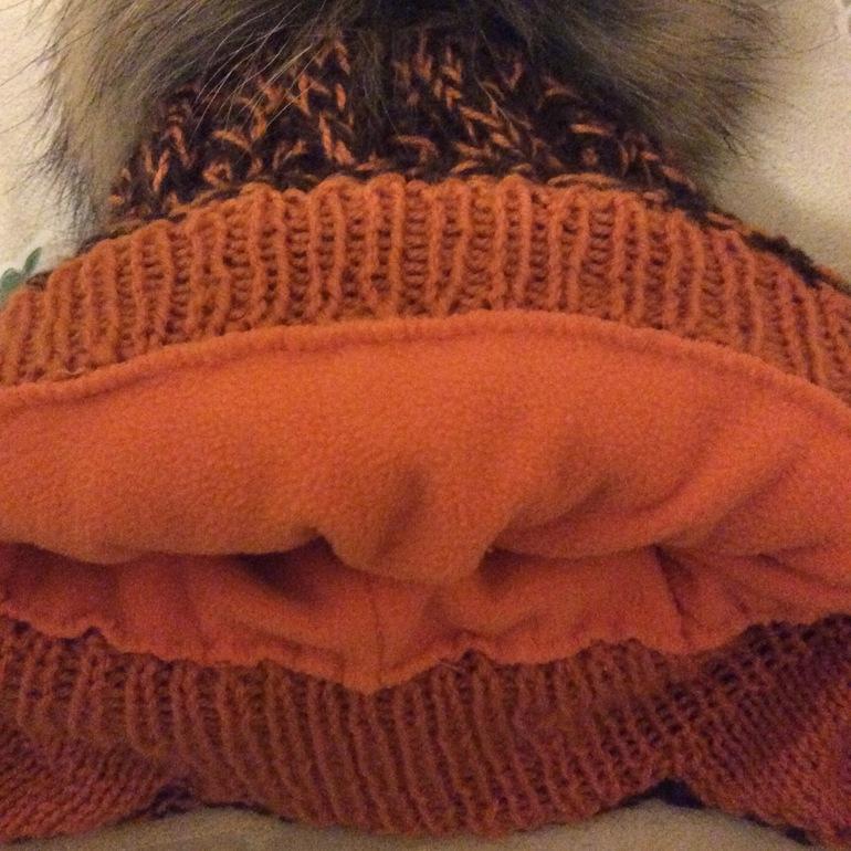 подклад к вязаной шапке как пришить подклад к вязаной шапке