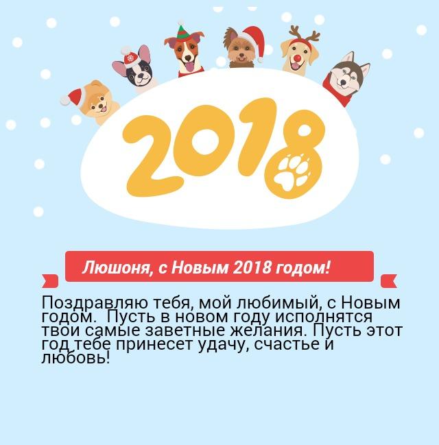 Люшоня, с Новым 2018 годом!