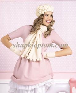 Комплект SAVANNA (берет+шарф+перчатки)