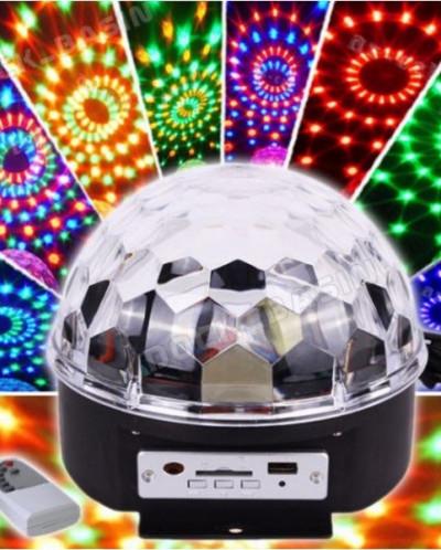 СВЕТОДИОИДНЫЙ ДИСКО - ШАР LED CRYSTAL MAGIC BALL LIGHT НОВАЯ
