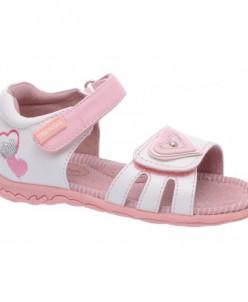 Туфли открытые Аллигаша 13-320 белый/розовый (23-28)