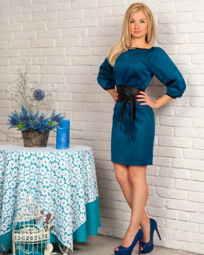 Платье № 844-бутылочный