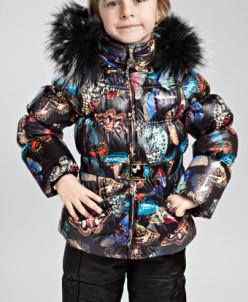 Комплект для девочки куртка+брюки изософт
